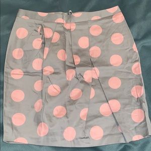 ASOS Gray and Pink Polka Dot Skirt Size 6